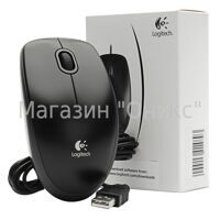 Мышь Logitech Optical Mouse B100 Black USB OEM