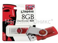 Память флеш/KIN-DT101G2/8GB/Kingston   8 Gb USB 2.0 DataTraveler 101 Gen 2 (Red)