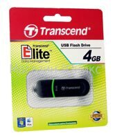 Память USB-флеш/TSN-TS4GJF300/Transcend  4GB JetFlash 300 (Black/Green)